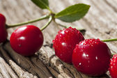Cherries on a wooden Table — Stock Photo