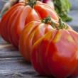 Stock Photo: Three Beefsteak Tomatoes