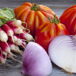 Stock Photo: Fresh vegetables from Weekly Market
