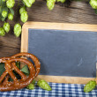 Writable Slate Blackboard — Stock Photo