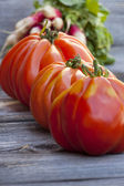Three Beefsteak Tomatoes — Foto Stock