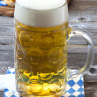 A large beer mug with beer — Stock Photo