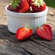 Sweet strawberries in a bowl — Stock Photo #32506763
