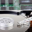 Detailed Picture of a opened hard disk drive — Stock Photo #32841755