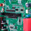 Stock Photo: Circuit board with electronic components