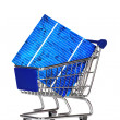 Shopping cart with Solar Cell — Stock Photo #32845207
