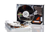 Picture of two opened hard disk drives — Stock Photo