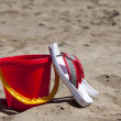 Flip-Flops and a Beach Bucket — Stock Photo
