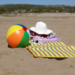 Beach scene in the Summer — Stock Photo #33720735