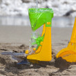 Stock Photo: Beach and Toys