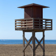 Lifeguard tower on the Beach — Stock Photo