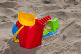Children Beach Toys in the Sand — Stock Photo