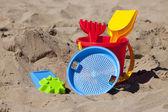 Färgglada stranden leksaker — Stockfoto