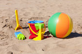 Barevné plážové hračky — Stock fotografie