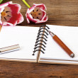 Note Pad opened with writable page — Stock Photo #34416749