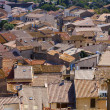 Stock Photo: Vie over rooftops of Gruissan