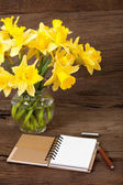 Note Pad opened with writable page — Stock Photo