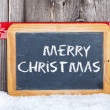Stock Photo: Christmas Greetings old Slate Chalkboard