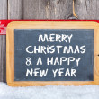 Christmas and a Happy New Year Greetings — Stock Photo