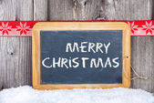Christmas Greetings old Slate Chalkboard — Stock Photo