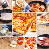 BBQ Chicken Tomato Pizza — Stock Photo