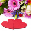 Stock Photo: Love Greetings with Flowers