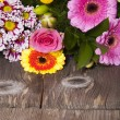 Stock Photo: Flowers Greetings