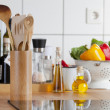 Stock Photo: View of kitchen worktop with induction hob