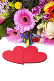 Love Greetings with Flowers — Stock Photo