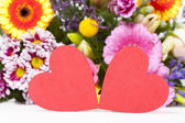 Two large red Hearts — Stock Photo