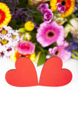 Love Greetings with Hearts — Stock Photo