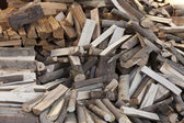 Hacked firewood — Stock Photo