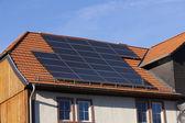 Alternative energy photovoltaic solar panels — Stock Photo