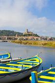 вид средневековой деревне груиссан — Стоковое фото