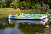 Row Boats at the Pond of Gruissan — Stock Photo
