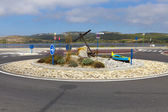 Newly created roundabout in Gruissan — Stock Photo