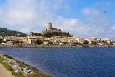 Vista del paesino medievale di gruissan — Foto Stock
