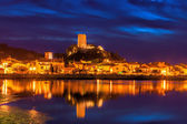 Medieval village of Gruissan by Night — Stock Photo
