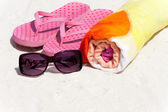 Accessories for the Beach Holiday — Stock Photo