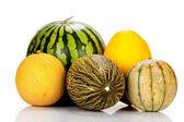 Different varieties of melons — Stock Photo