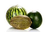 Three Different varieties of melons — Stock Photo