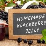 Slate blackboard with the words: Homemade Blackberry Jelly — Stock Photo #51792935