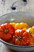 Beef tomatoes in a bowl — Stock Photo