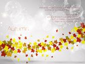 Sonbahar yaprak arka plan, vektör çizim — Stok Vektör
