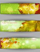Herfst blad achtergrond, vectorillustratie — Stockvector