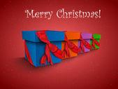 Noel hediye kutusu şeritler — Stok Vektör