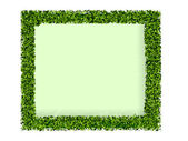 Frame made of green grass — Stock Vector