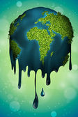 Earth in the drop — Stock Vector