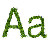 Isolated grass alphabet on white background — Cтоковый вектор