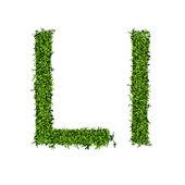 Isolated grass alphabet on white background — Stok Vektör